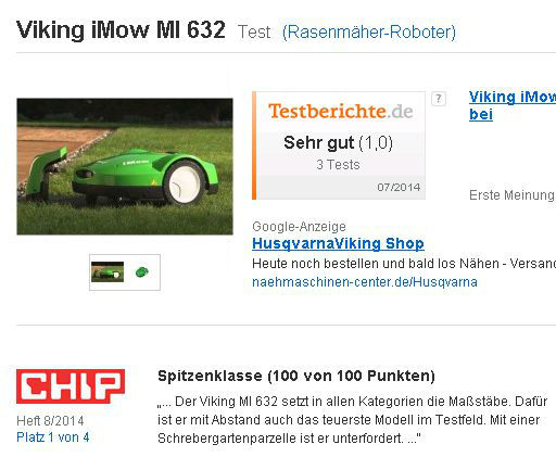 viking imow mi 632 test rasenm her roboter 2014 08 07 16 13 15 schaffner terra tech ag. Black Bedroom Furniture Sets. Home Design Ideas