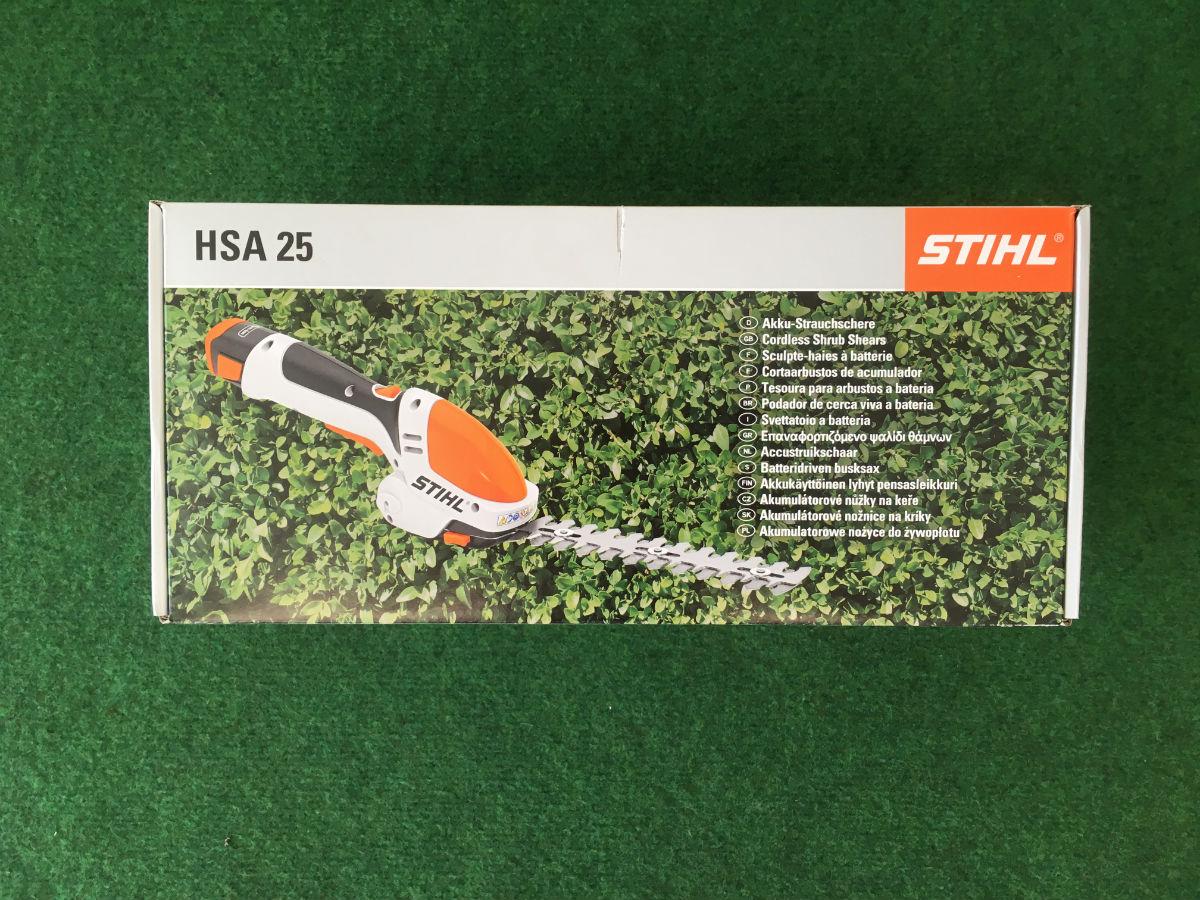 Stihl Akku-Strauchschere HSA 25_Karton_vorne